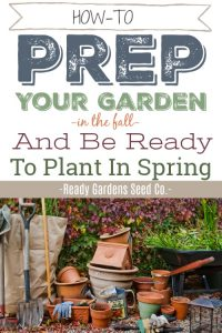 It's that time of year again! The crisp cool weather and changing leaves are upon us. Fall is here! It's time to break out the pumpkin spice lattes and the warm cozy socks. But it's also time to prepare your garden so it'll be ready for planting in the spring.
